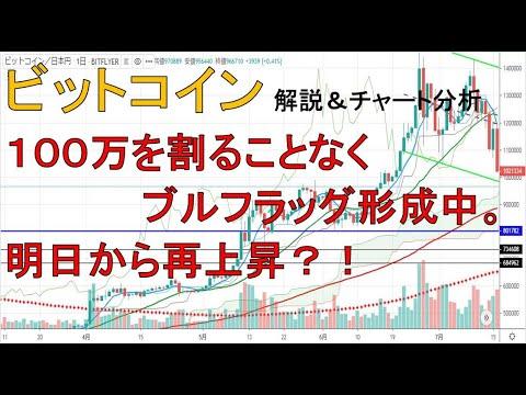 【仮想通貨 ビットコイン(BTC)】100万を割らずにレンジ中。明日から再上昇?!今後のシナリオをチャート分析1.30