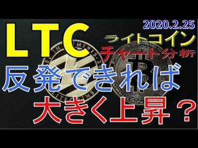 【仮想通貨ライトコイン(LTC)】反発できれば大きく上昇する可能性有り?!今後のシナリオをチャート分析2.25