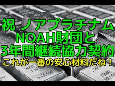 ノアコイン ノアプラチナム が NOAH 財団 と3年間継続協力契約!これが一番の安心材料だね!AOIさんのノア市民権先行優待ツイートのご紹介