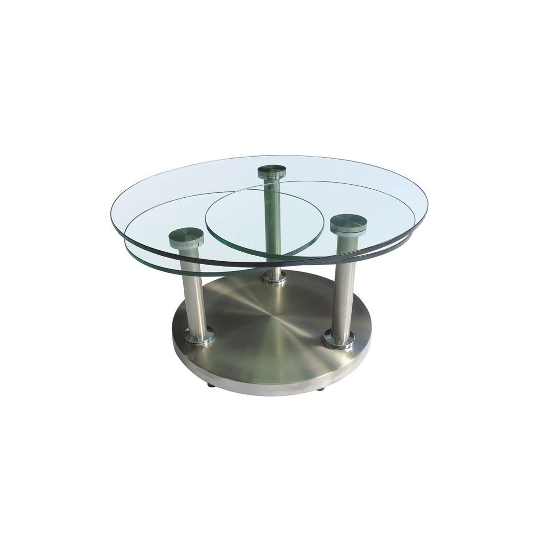 Table Basse Articule Verre Et Mtal TRYGO Univers Salon
