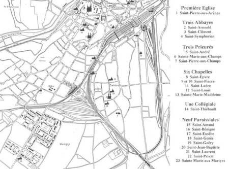 Plan du quartier des basiliques