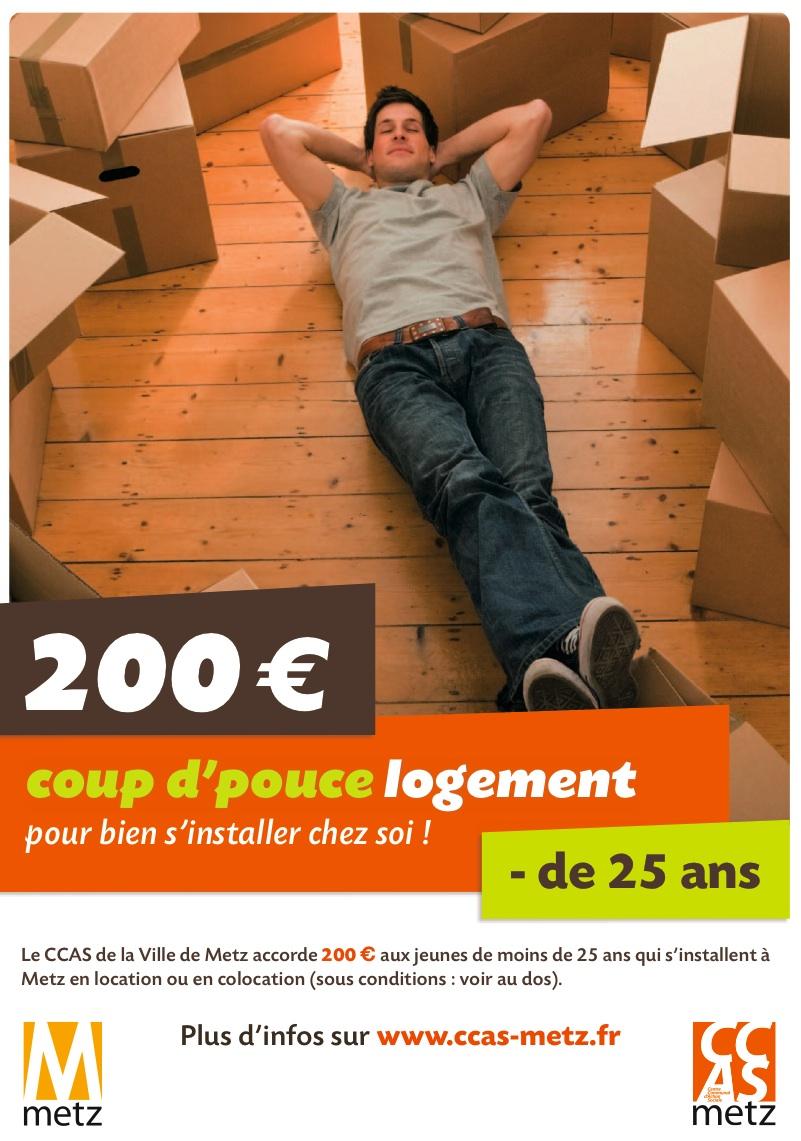coup d 39 pouce logement metz 200 pour les moins de 25 ans tout metz. Black Bedroom Furniture Sets. Home Design Ideas