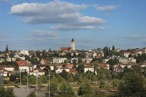 Plantières-Queuleu vu depuis le centre-ville