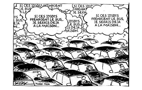 dessin bouchon de voitures