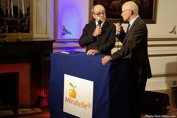 Dominique Gros et Philippe Buron Pîlatre sur le plateau de Mirabelle TV