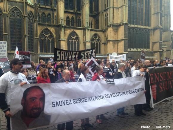 Un rassemblement avait eu lieu à Metz le mardi 24 mars 2015 en soutien à Serge Atlaoui.