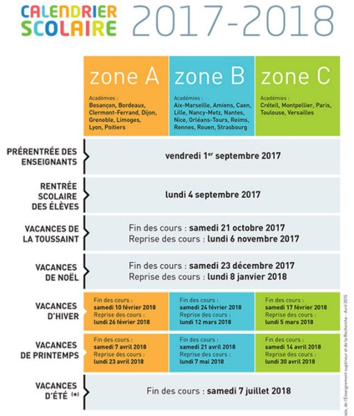 calendrier scolaire moselle