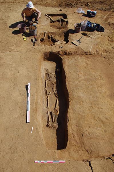 Nécropole en cours de fouille à Woippy - Copyright : Metz Métropole_Pôle archéologie préventive