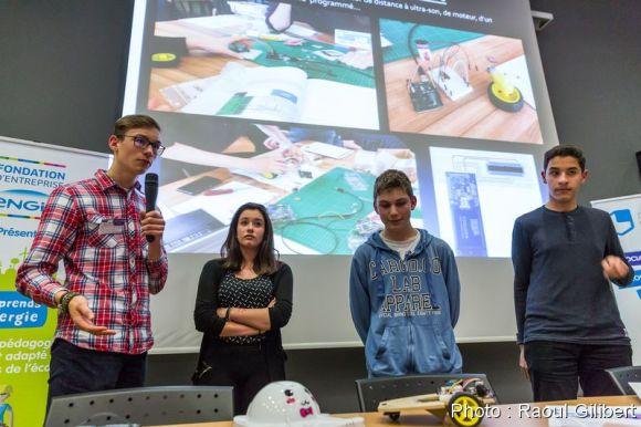 L'équipe du collège Himmelsberg de Sarreguemines
