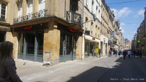 Le magasin Monop' à Metz a ouvert ses portes rue Serpenoise, le 3 mai 2016