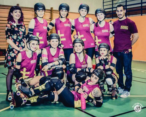 Equipe Roller Derby Metz Club. Crédit photo : Olivier Vax.