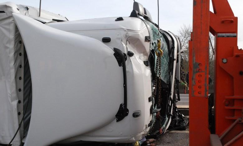 Photo of Camion couché sur l'A315 : circulation difficile autour de Metz
