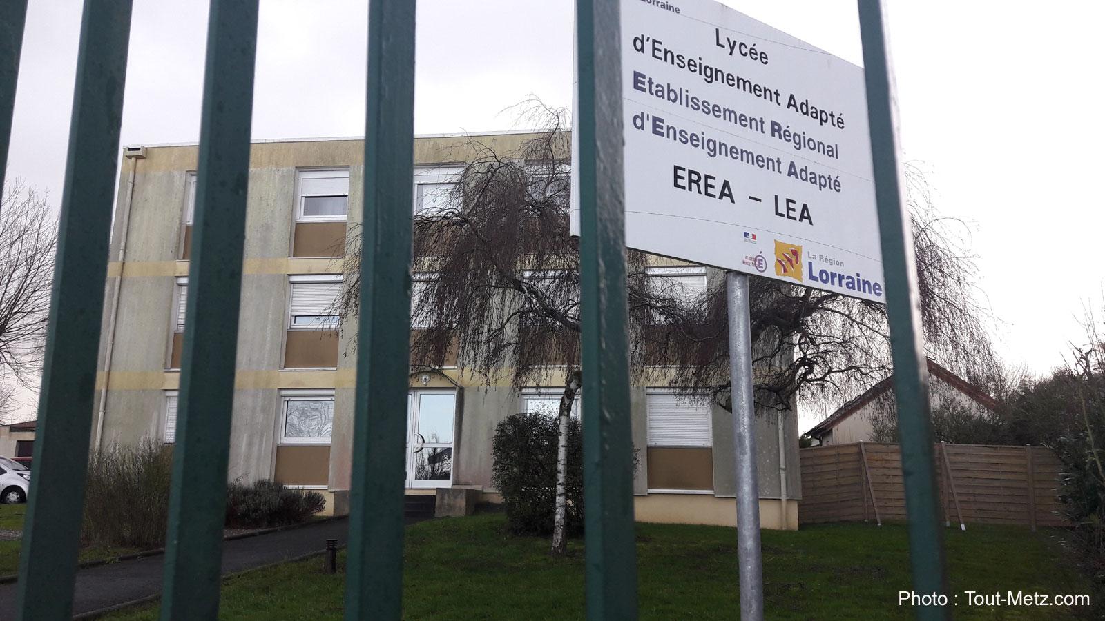 L'EREA, établissement scolaire adapté à Verny ferme définitivement ses portes