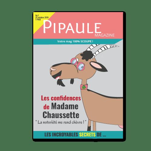 Magazine Pipaule avec les confidences de Madame Chaussette