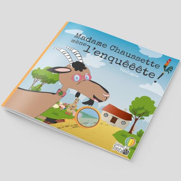 Couverture livre Mme Chaussette mène l'enquêêête !