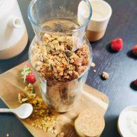 Ma recette de granola figue/noisette/coco (sans sucre ajouté)
