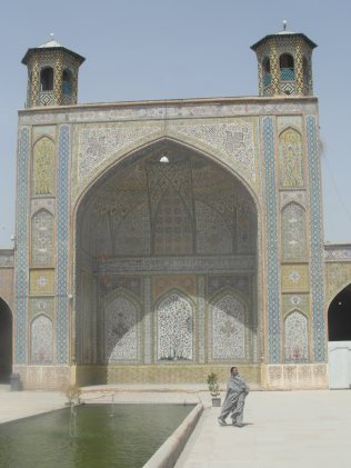 Les visites de mosquees a Shiraz sous le tchador (qui veut litteralement dire tente !!)