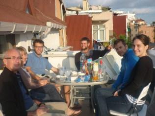 La superbe terrasse en compagnie de nos hotes Francais