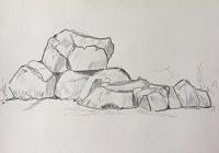 Comment dessiner des rochers en 5 min !