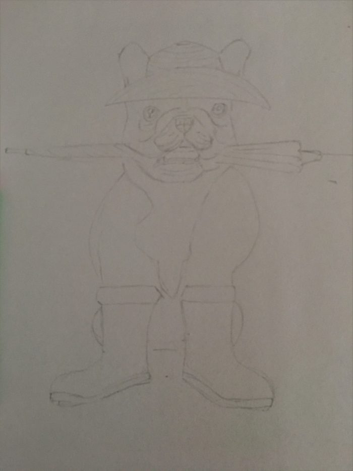 dessin du chien de façon humoristique