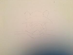 , je dessine les détails de la tête.