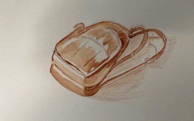 comment peindre facilement un sac en cuir à l'aquarelle