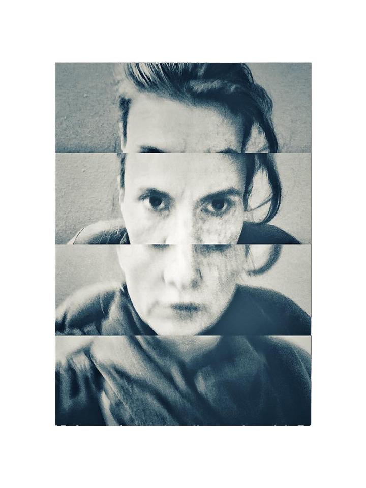 Photographie autoportrait Moi noir et blanc par Anna Yurienen Gallego