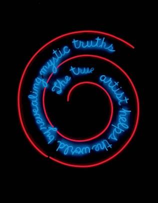 installation de Bruce Nauman, qu'on aurait aimé présenter dans le blog les artistes il y a plus de 50 ans