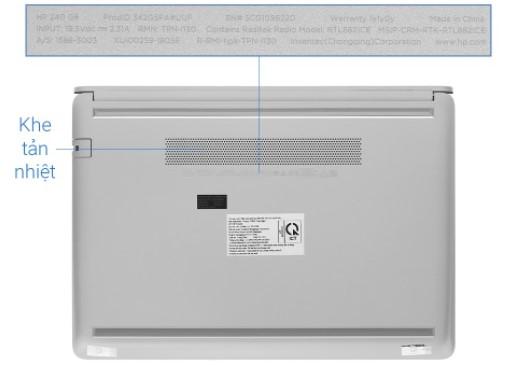 """Laptop HP i3 SSD256GB Ram4GB 14"""" 240 G8 342G5PA Bạc"""