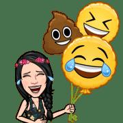 bitmoji émoticone rire