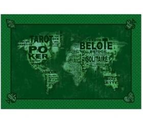 tapis de cartes cartes du monde 40 x 60 cm vert