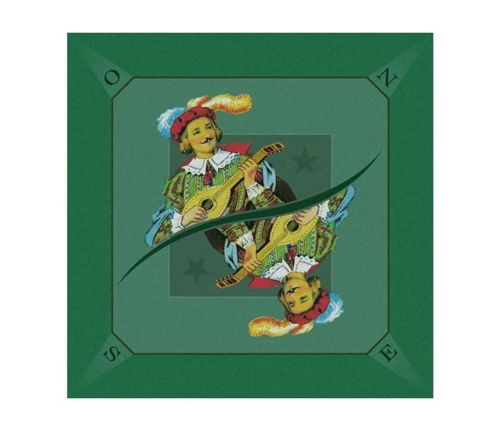 tapis jeu tarot 60 x 60 cm excuse vert