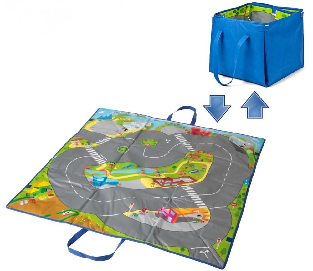 tapis de jeu voiture boite rangement 100 cm