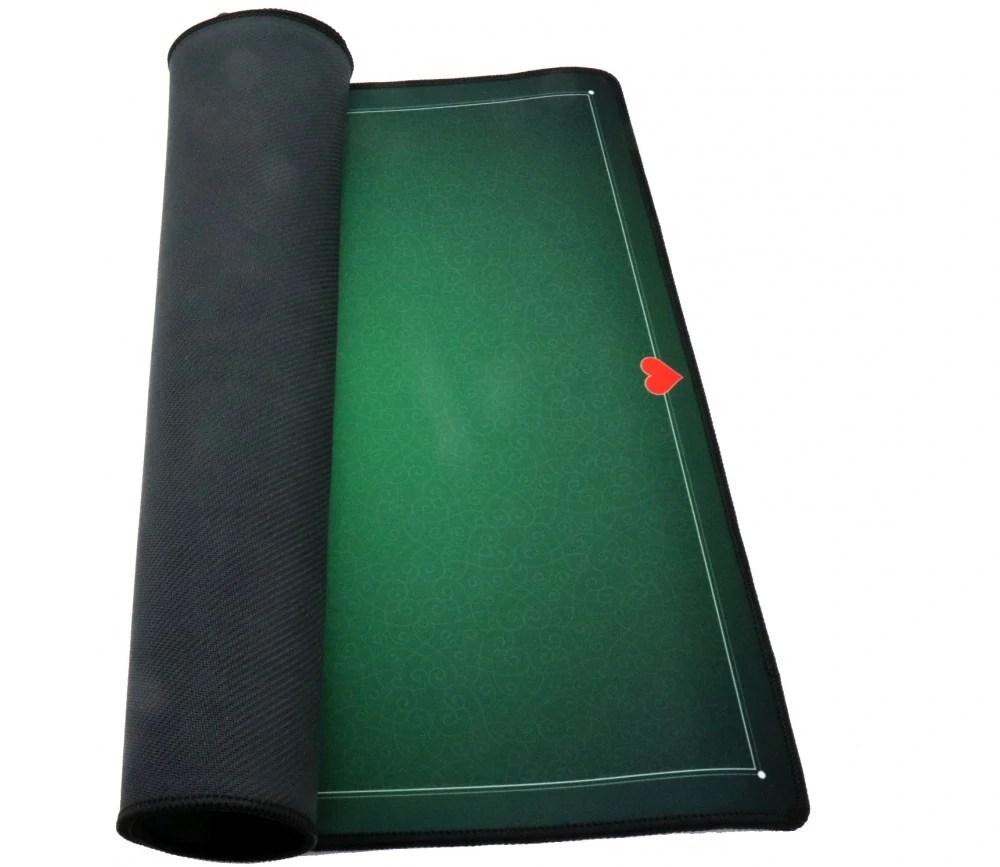 tapis de cartes neoprene vert 40 x 60 cm expert belote