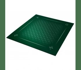 tapis jeu 78 x 78 cm vert trame tarot