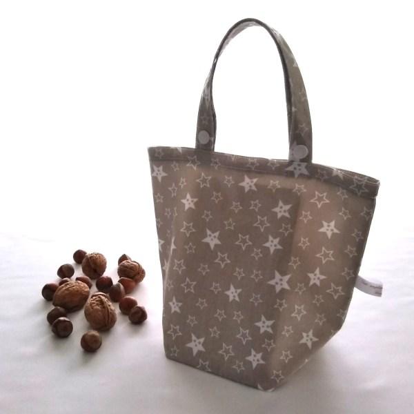 Emballages - Sacs Cadeaux - Etoiles - Blanc Beige-