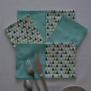 Triangles verts - Vert d'eau