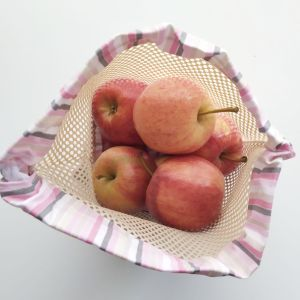 Emballages - Sacs à Vrac - Rayures - Rose Gris Blanc