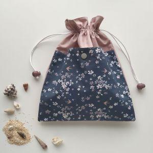 Sacs en Tissu - Sacs Pochons - Fleurs de Printemps