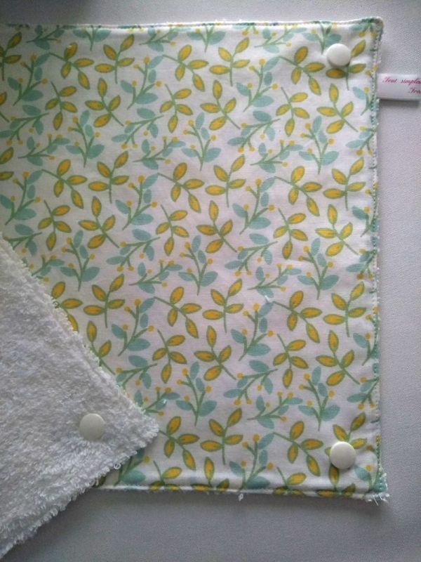 essuie-tout lavables branches jaune menthe