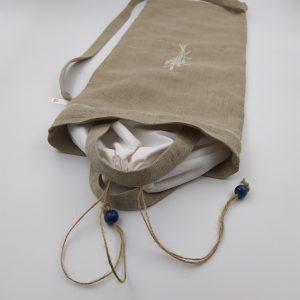 sac à pain toile de lin broderie 7 épis