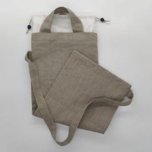 sac à pain lin naturel
