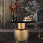 Terzo Black Marble Coffee Table Tov Furniture