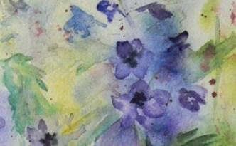 Delphinium painting