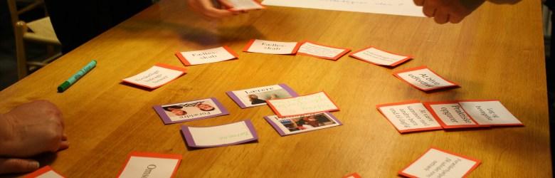 Spillere udvikler ideer ved hjælp af Tovejs' dialogspil.