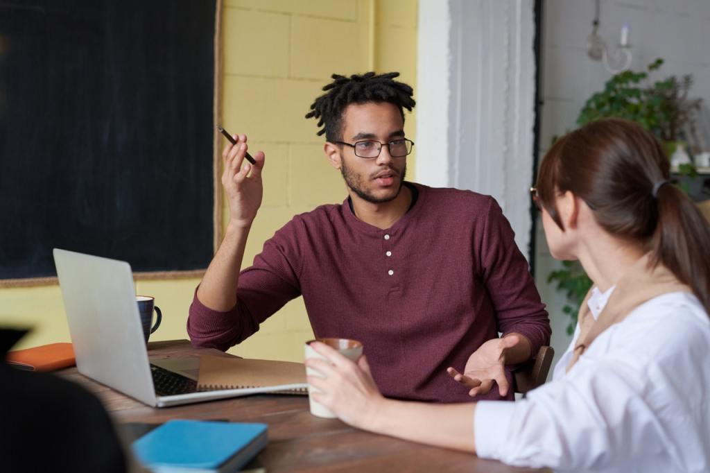 Gennem feedback får du indblik i, hvordan dine spørgsmål virker på andre.
