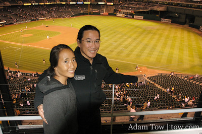 Oakland A's from the Box Suite