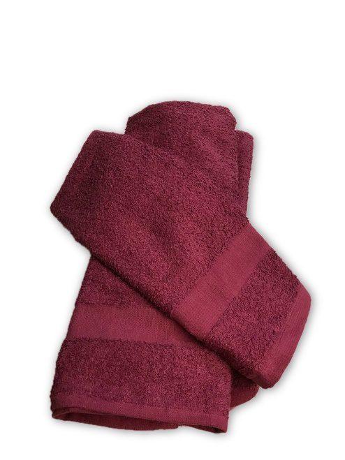 Shampoo Towels - Burgundy - priced per dozen