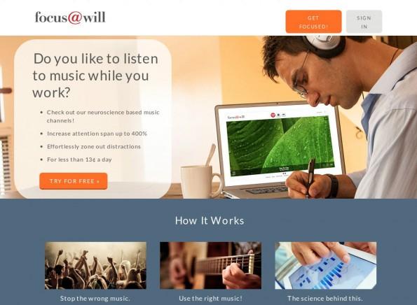 Screenshot: Focus at Will