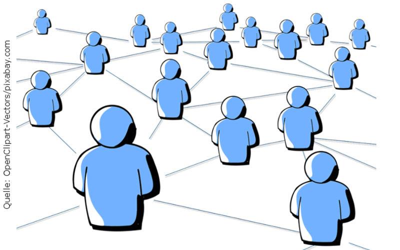 Netzwerkeffekt, Quelle: OpenClipart-Vectors/pixabay.com
